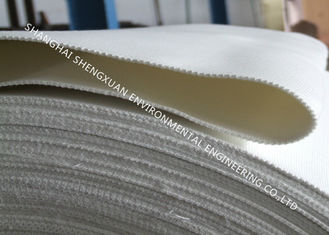 White Polyester Air Slide Fabric Filter 50 Meters Length For Cement Processing
